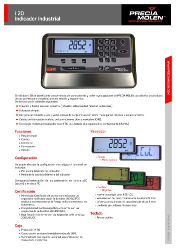 i 20 Indicator industrial