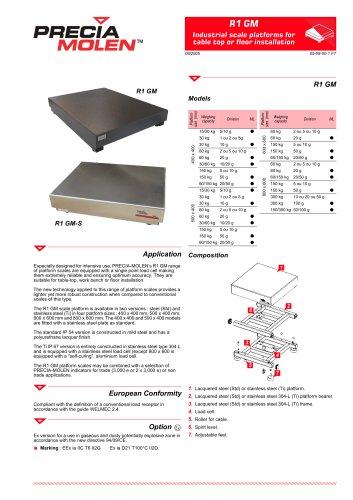 Platform scales R1 GM / R1 GM-S Range