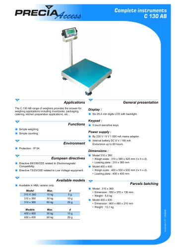 Weighing scale C 130 AB
