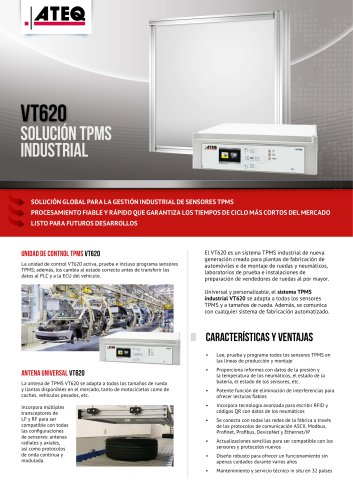 ATEQ VT620: SOLUCIÓN TPMS INDUSTRIAL