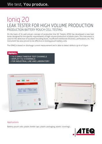 IONIQ 20 leak test