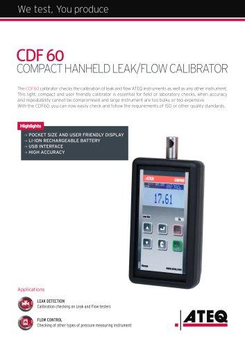 Leak/Flow calibrator CDF 60