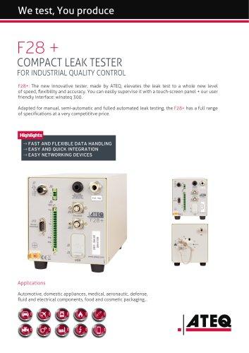 leak tester - leak testing - leak test | F28+