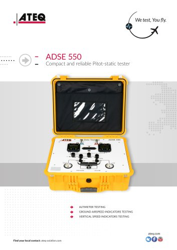 PITOT STATIC TESTER ADSE 550
