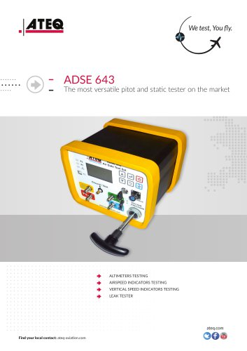 PITOT STATIC TESTER ADSE 643