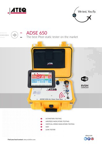 PITOT STATIC TESTER ADSE 650