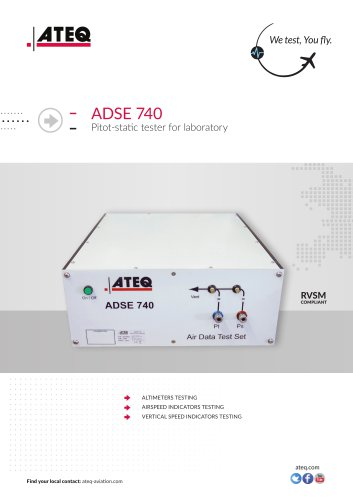 Pitot static tester - ADSE 740