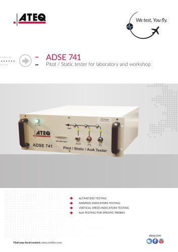 Pitot static tester - ADSE 741