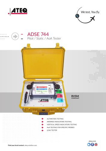PITOT STATIC TESTER ADSE 744