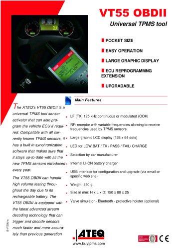 VT 55: TPMS diagnostic tools - TPMS trigger - TPMS reader