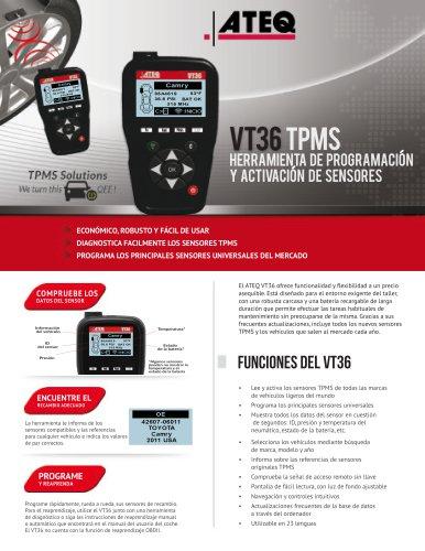 VT36 Herram ienta de programacion y activacion de sensores