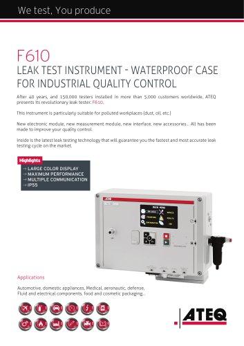 Weatherproof leak tester | F610
