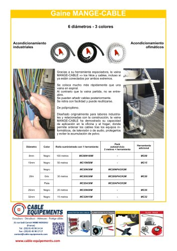 Gaine MANGE-CABLE