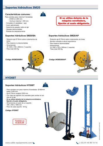 Soportes hidráulicos SM20 / HYD08T