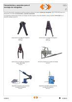 Herramientas y aparatos para el montaje de manguitos