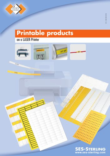 Printable products on a LASER-Printer
