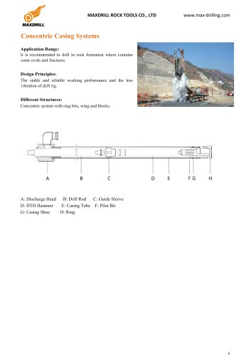 CONCENTRIC OVERBURDEN DRILLING SYSTEM