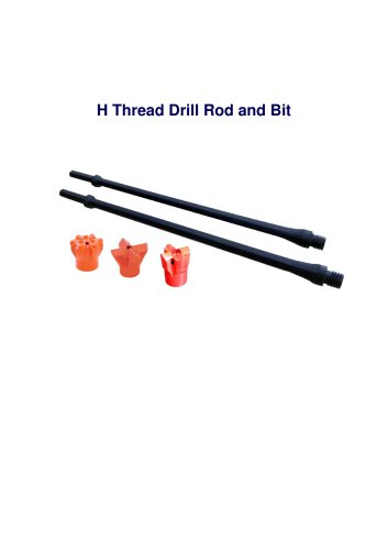 Maxdrill H-thread drill rod and bit