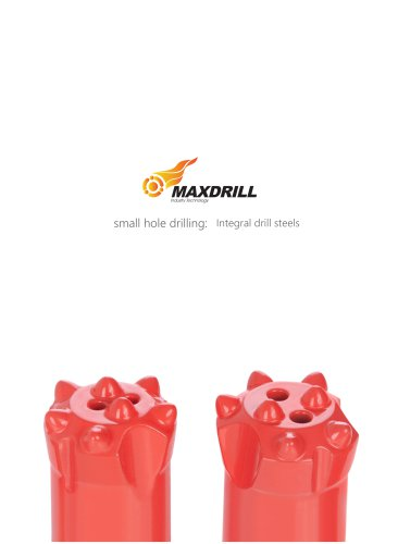 Maxdrill Integral drill steel rods for small hole drilling
