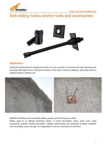 Maxdrill Self drilling anchor system