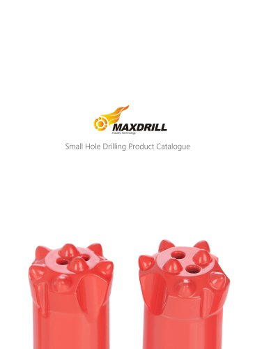 Maxdrill Taper tools-Tophammer rilling Tools For small hole drilling