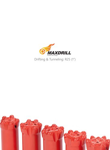 Maxdrill Thread R25-Top Hammer Drilling Tools for Drifting and Tunneling