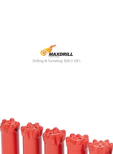 Maxdrill Thread R28-Top Hammer Drilling Tools for Drifting and Tunneling