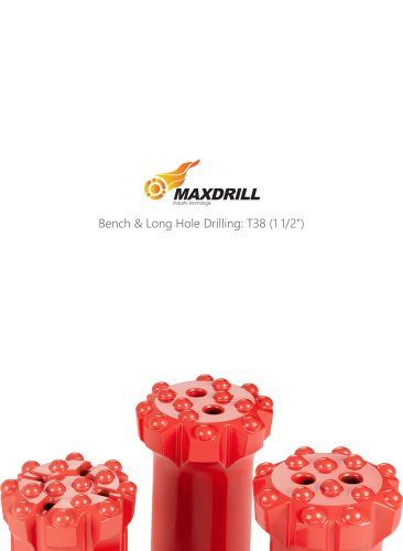 Maxdrill Thread T38-Top Hammer Drilling Tools For Bench & Long hole Drilling