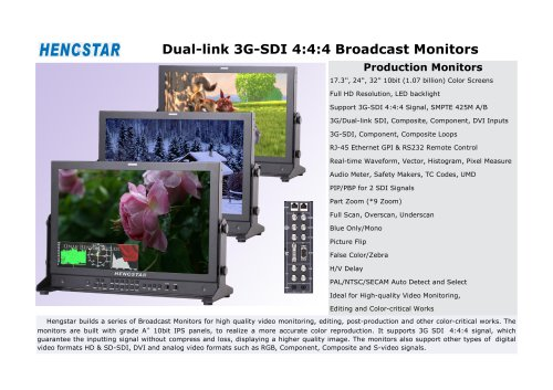Hengstar Broadcast Monitor HSBM-P2401 for Broadcasters and Video Production