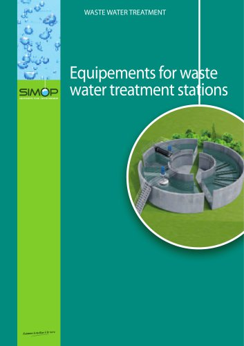 Equipements for waste  water treatment stations