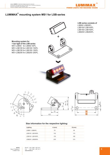 LUMIMAX mounting system MS1 for LSB-series
