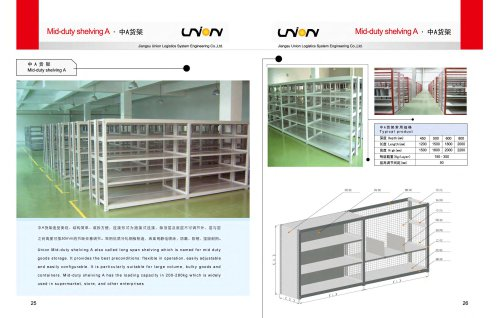 Jiangsu Union Mid-duty shelving commercial & industrial warehouse