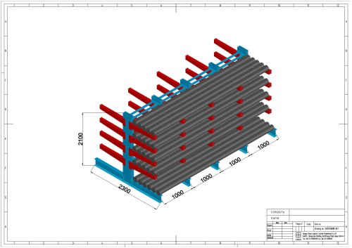 Union Cantilever Racking Model