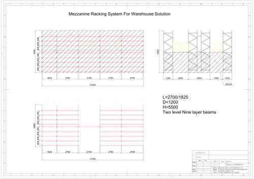 Union Mezzanine Racking Drawing