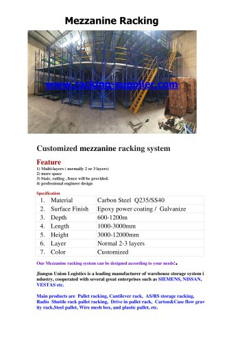 Union Mezzanine Racking MR16081101