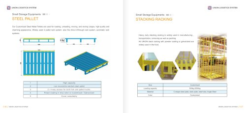 Union  Power coated steel pallet or hot-dip galvanized steel pallet