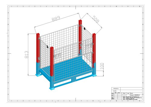 Union Wire Mesh Container Drawing