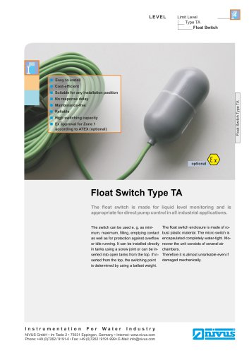 Float Switch Type TA