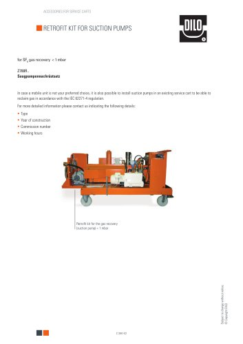 Retrofit kit for suction pumps Z788R