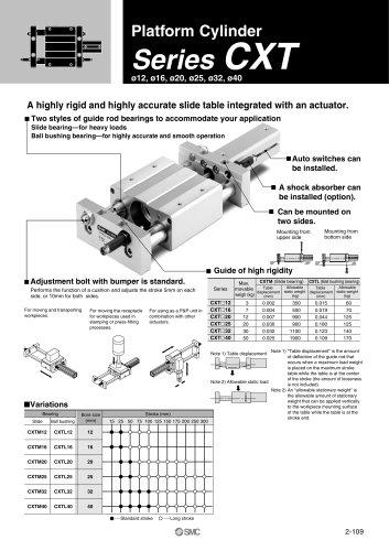 Platform Cylinder Series CXT
