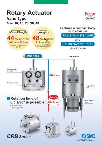 Rotary Actuator Vane Type Size: 10, 15, 20, 30, 40
