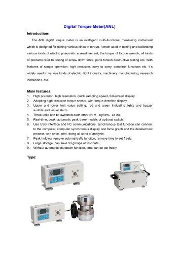 ANL Digital Torque Meter for Lab use | Wenzhou Tripod instrument
