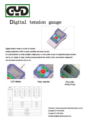 ATL Digital tension gauge for tooth/switch|Wenzhou Tripod instrument