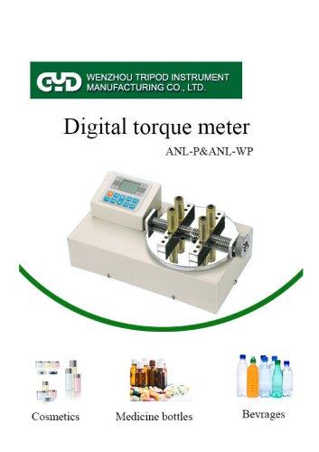 digital torque meter for bottle caps/bottle closure /ANL-P/Wenzhou Tripod