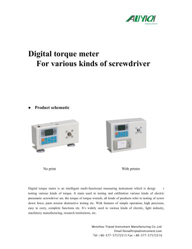Digital torque meter for screwdriver torque test/wenzhou tirpod/measuring instrument/torque meter
