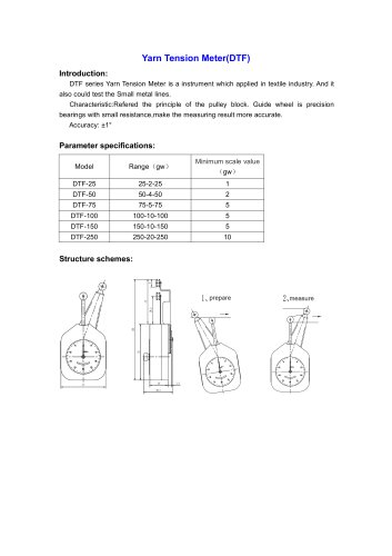 DTF Yarn Tension Meter for textile industry | Wenzhou Tripod instrument