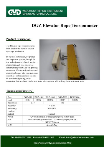 tensiometer for elevator rope| DGZ | Tripod instrument