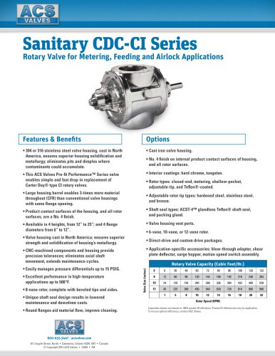 Sanitary CDC-CI Series