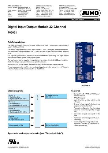 Digital Input/Output Module 32-Channel