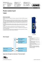 Router module 2-port